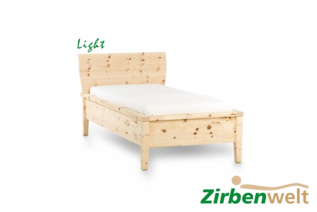 Zirbenbett Einzelbett Light